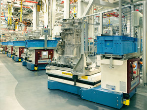 IPT Floor is the best Energy Transmission System solution for the elctrification of Automated Guided Vehicles