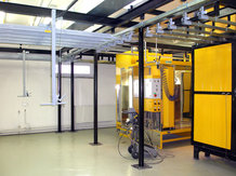 Monorail Overhead system in a Paint finishing system / powder coating system