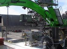 Ship Unloader in a harbor